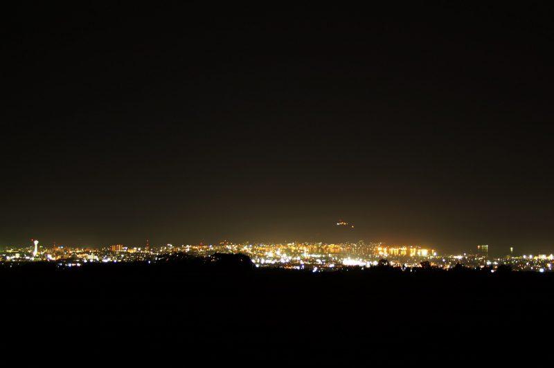 函館裏夜景・石川町農道
