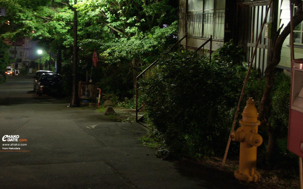 日和坂の夜 函館フォト散歩壁紙 函館市 道南地域ポータル E