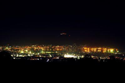 函館裏夜景(石川町農道)